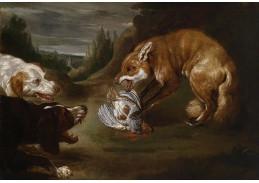 Slavné obrazy VIII-172 Paul de Vos - Liška a dva psi