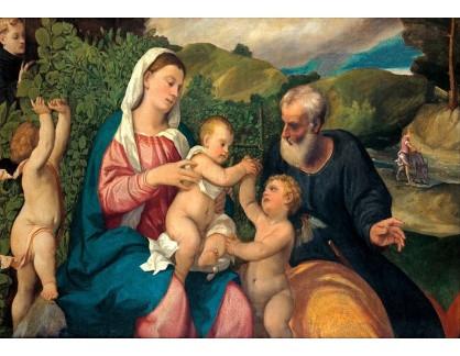 Slavné obrazy XVI-324 Bonifacio de Pitati - Odpočinek na útěku do Egypta