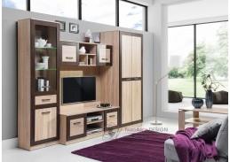 BOSS 02, obývací sestava nábytku, dub sonoma / dub čokoládový