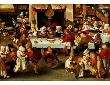 Slavné obrazy III-DDSO-600 Frans Verbeeck - Rolnická svatba