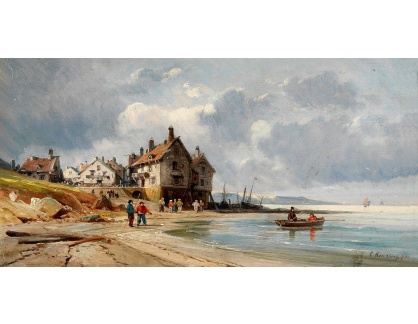 VP361 Charles Euphrasie Kuwasseg - Rybáři na pláži