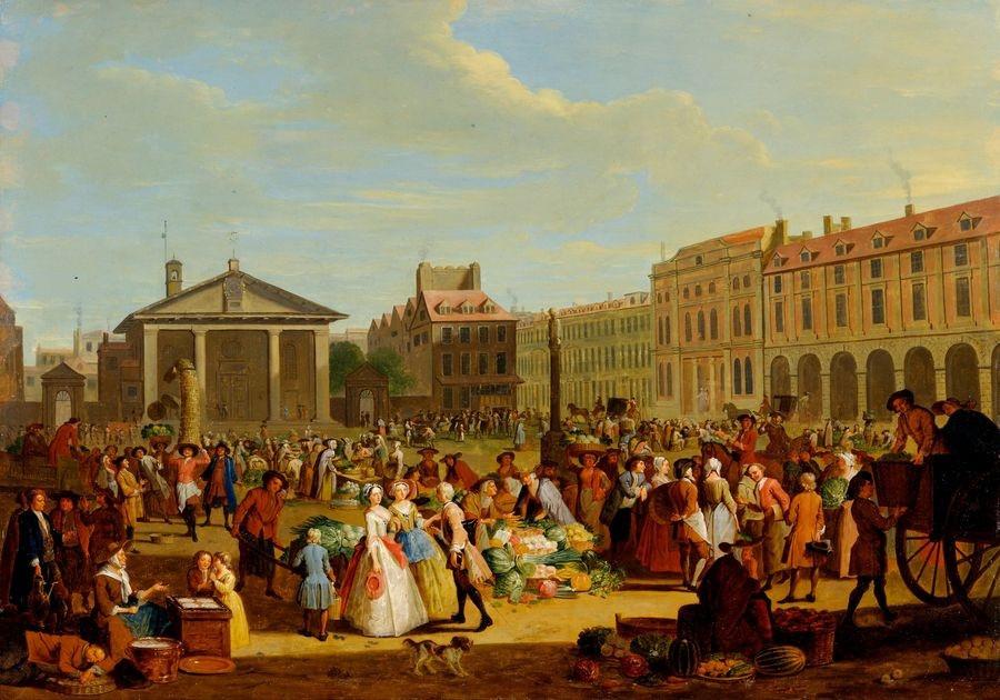 Slavné obrazy XIV-18 Pieter Angillis - Tržnice