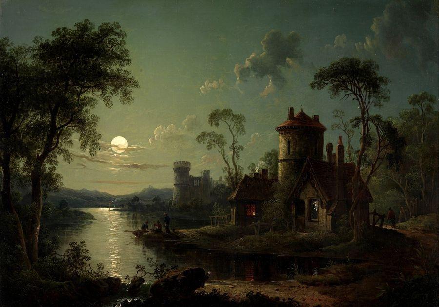 Slavné obrazy XIV-102 Sebastian Pether - Říční krajina