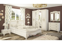 MILAN, sestava nabytku do ložnice, bílá