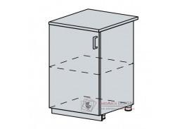 VERONA, dolní skříňka 1-dveřová 60D1D, bílá / jasan šimo