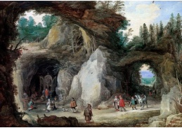 A-722 Jan Brueghel a Joos de Momper - Poustevník před jeskyní