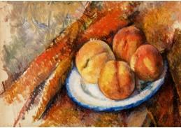 D-7500 Paul Cézanne - Čtyři broskve na talíři