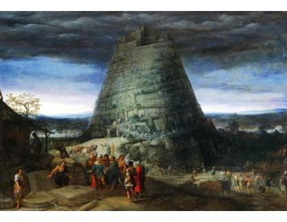 Slavné obrazy II-DDSO-388 Adriaen van Stalbemt - Babylonská věž