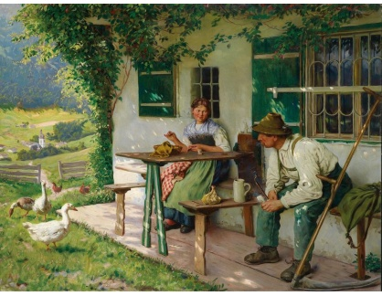 KO III-91 Emil Rau - Odpočinek u domu