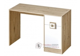 NIKO 10, pracovní stůl, dub jasný / bílá