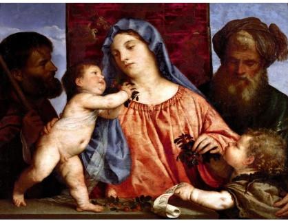 Tizian - Madonna s třešněmi