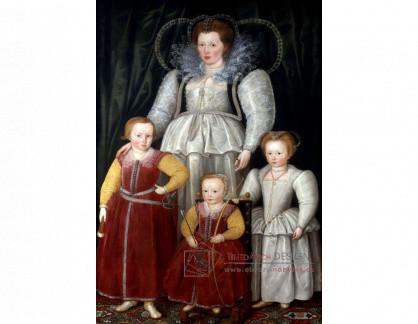 VH584 Marcus Gheeraerts - Paní Anna, manželka Jiřího III, se svými dětmi