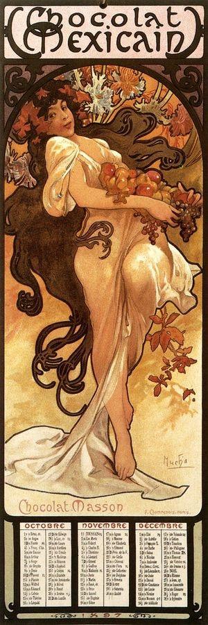 Obraz VAM-113 Alfons Mucha - Chocolat Masson, Autumn