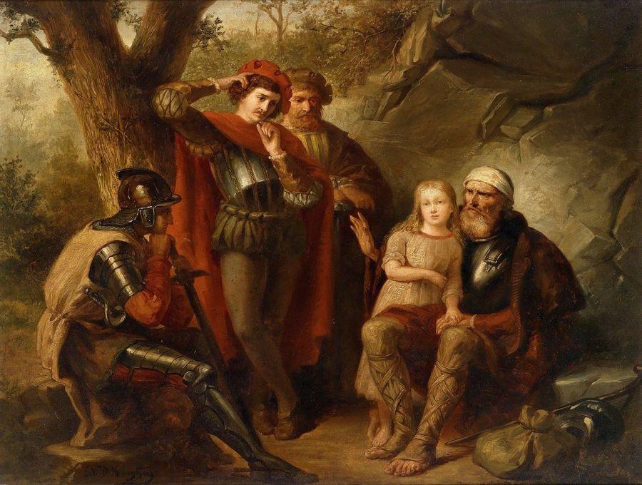 Slavné obrazy XII-103 E. van der Haeghen - Zraněný rytíř