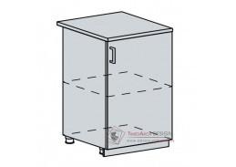 PROVENCE, dolní skříňka 1-dveřová 60D1D, bílá / šedá