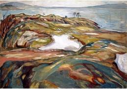 D-9336 Edvard Munch - Pobřežní krajina