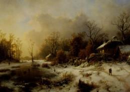 August Bedřich Piepenhagen - Zimní krajina, 90x60cm