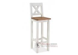 Barová židle POPRAD borovice bělená / ořech