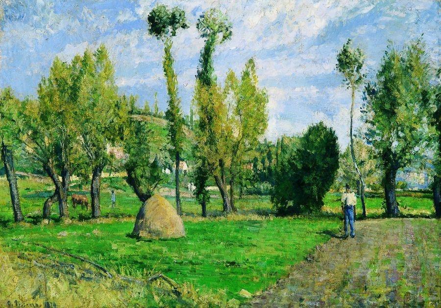 Obraz VCP-436 Camille Pissarro - Farma poblíže Antoise