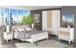 PATRICIA, sestava nábytku do ložnice, bílá / dub sonoma