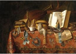 Krásné obrazy VI-88 Neznámý autor - Zátiší s knihami