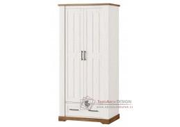 COUNTRY, 70 šatní skříň 2-dveřová, borovice andersen / dub stirling