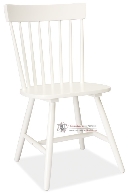 Jídelní celodřevěná židle ALERO bílá