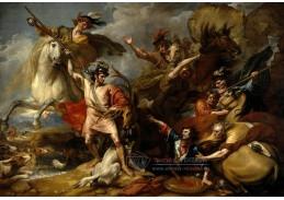 Slavné obrazy XI-101 Benjamin West - Smrt jelena