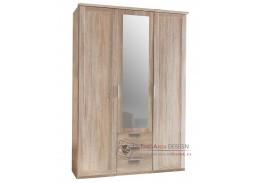 MARGITA 564, šatní skříň 3-dveřová se 3-mi zásuvkami 135cm 3D3S, dub