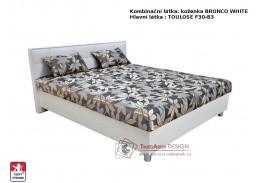 BELFAST, postel 160x200cm, pevně načalouněné matrace