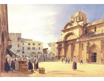 VALT 35 Jacob Alt - Náměstí Grande s katedrálou Sebenico