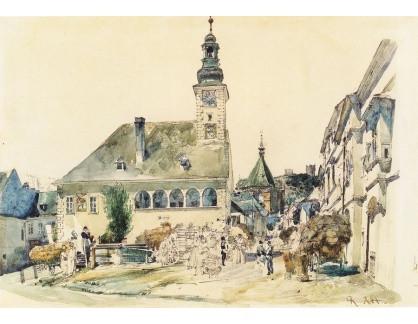 VALT 73 Rudolf von Alt - Radnice v Mödlingu