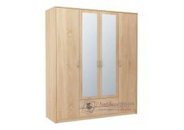 VIKA, šatní skříň 4D2S 168cm, dub sonoma