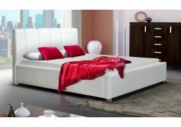LUBNICE I, čalouněná postel 160x200cm, ekokůže bílá