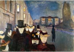 VEM13-08 Edvard Munch - Večer na Karl Johan-Gate