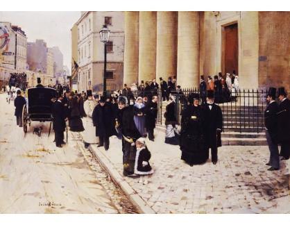 Krásné obrazy IV-85 Jean Beraud - Kostel Saint-Philippe du Roule v Paříži