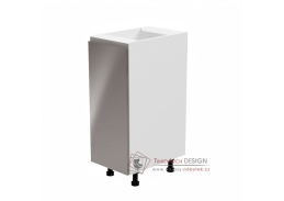 AURORA, dolní kuchyňská skříňka D30 - levá, bílá / šedý lesk