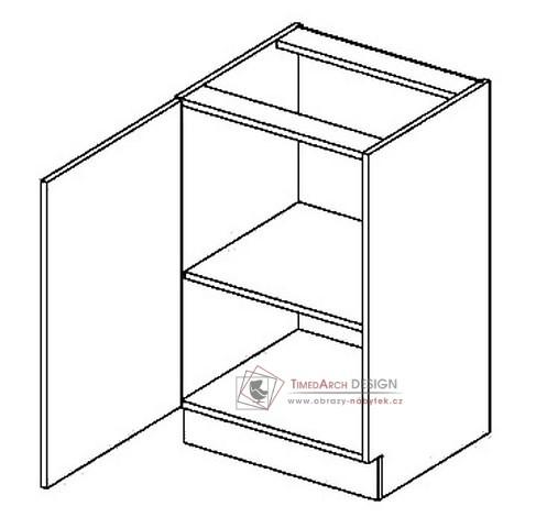 Dolní skříňka jednodvéřová D50L PREMIUM olše - levá