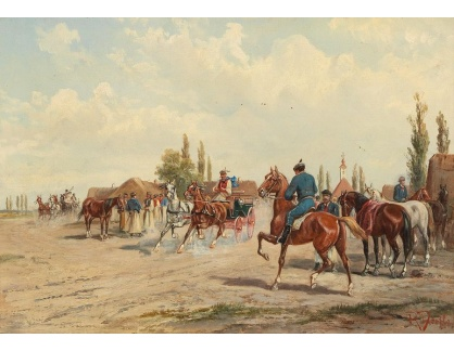 DDSO-1493 Alfred Steinacker - Koňský trh v Aradu