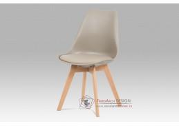 CT-752 LAT, jídelní židle, buk / plast + koženka latté