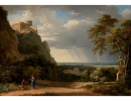 Slavné obrazy XIV-16 Pierre-Henri de Valenciennes - Krajina s postavami