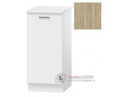 OMAGH, dolní koupelnová skříňka s košem na prádlo 1-dveřová D40 s PD, dub sonoma