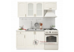 VERONA, kuchyně 180cm, bílá / zlatý jasan
