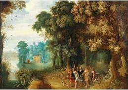 DDSO-4999 Gerard de la Vallée - Lesní krajina s Dianou a jejími nymfami