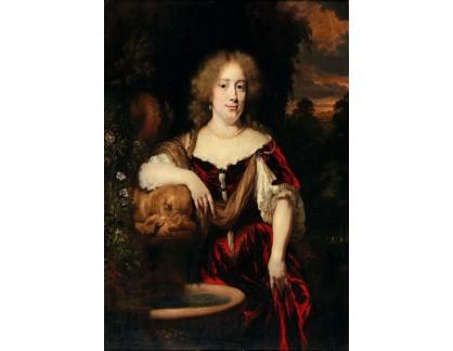 Slavné obrazy I-DDSO-309 Nicolaes Maes - Portrét ženy