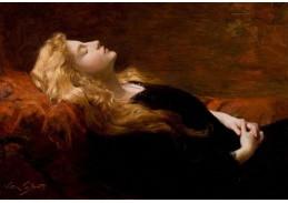 Slavné obrazy IX 83 Victor Gabriel Gilbert - Odpočívající kráska