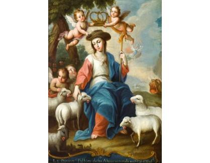 Krásné obrazy II-432 Miguel Cabrera - Božská pastýřka