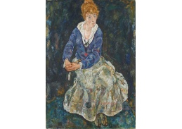 D-7812 Egon Schiele - Portrét manželky Edith Schiele