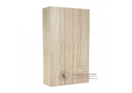 GWEN 70427, šatní skříň 116cm, dub sonoma
