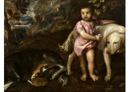 Tizian - Chlapec se psem v krajině